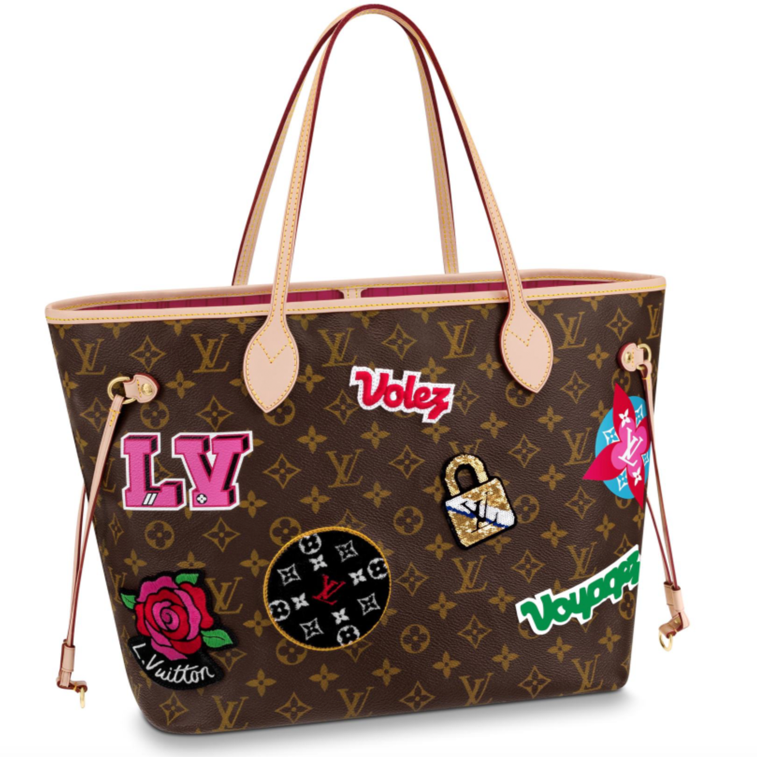 NEVERFULL MM - €1390 $1950M43988MONOGRAM PATCHES