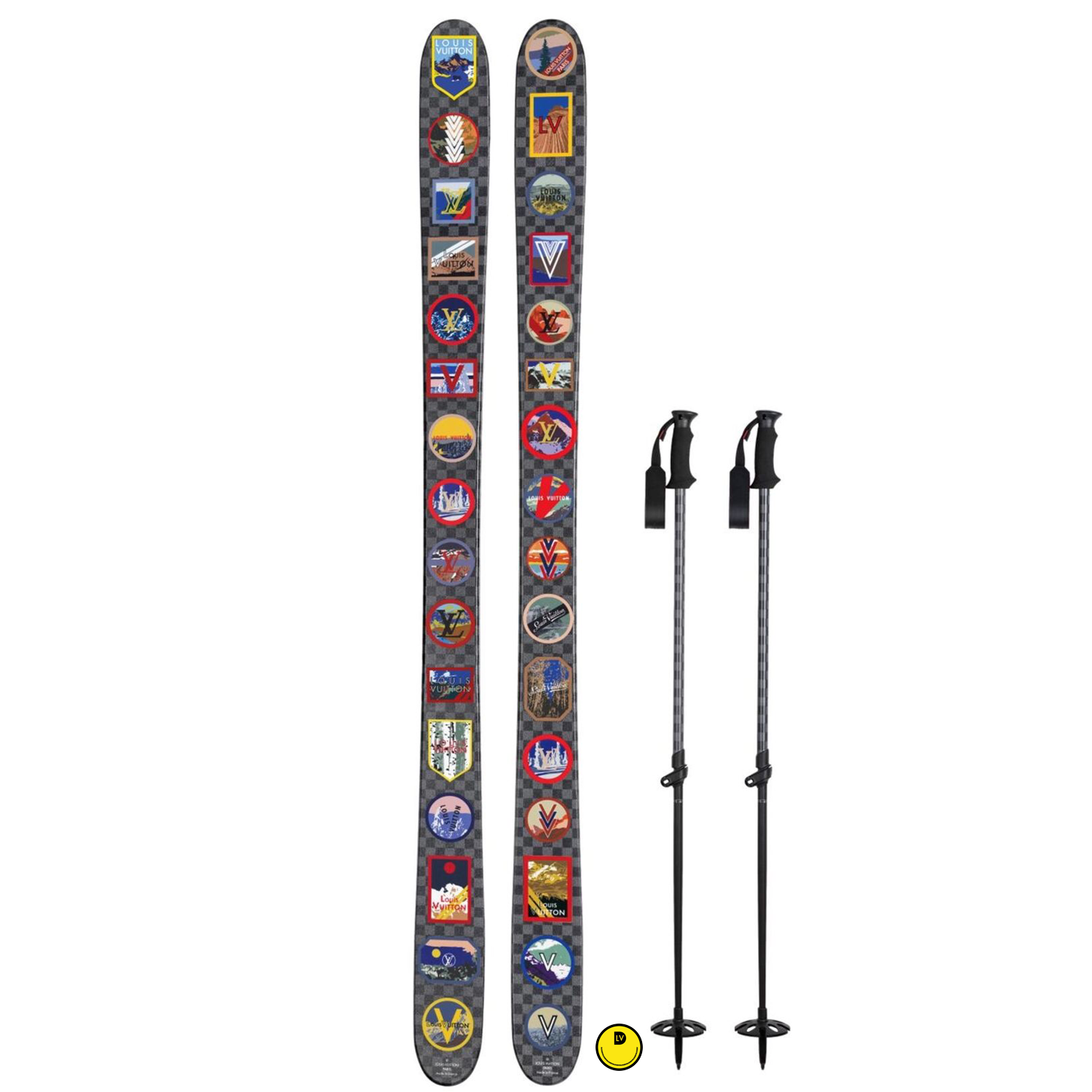 SKIS - €3500 $4700*R98007DAMIER GRAPHITE ALPS