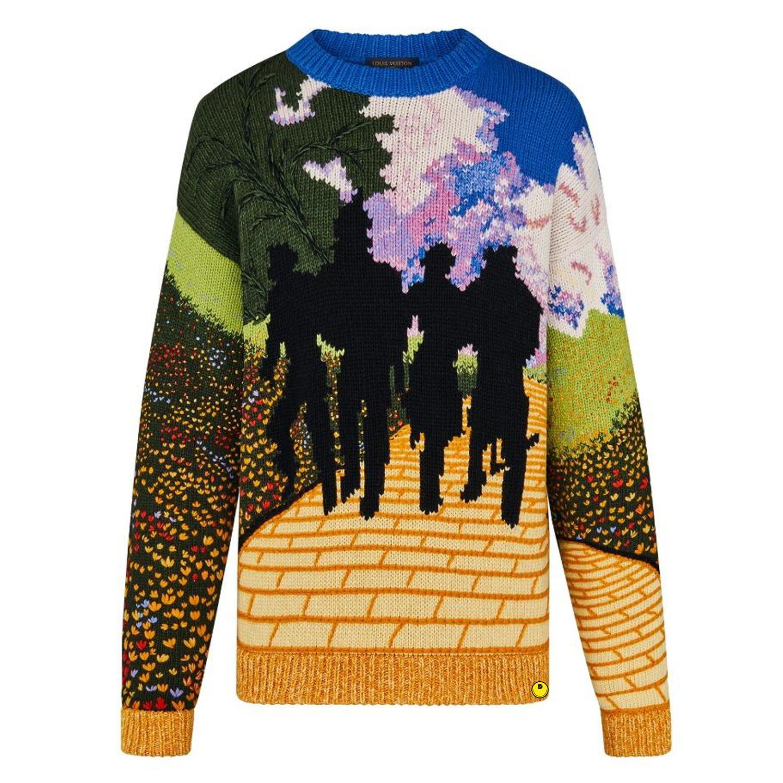 YELLOW BRICK ROAD CREWNECK - €3900-hand knit