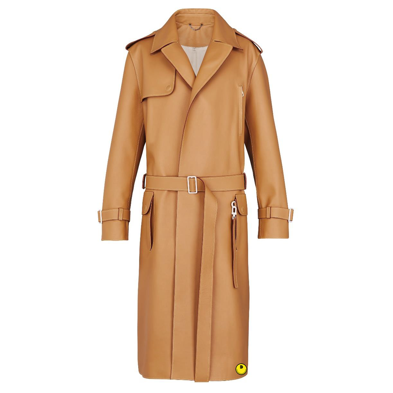 LEATHER TRENCH - €6900 $-CHAMEAU