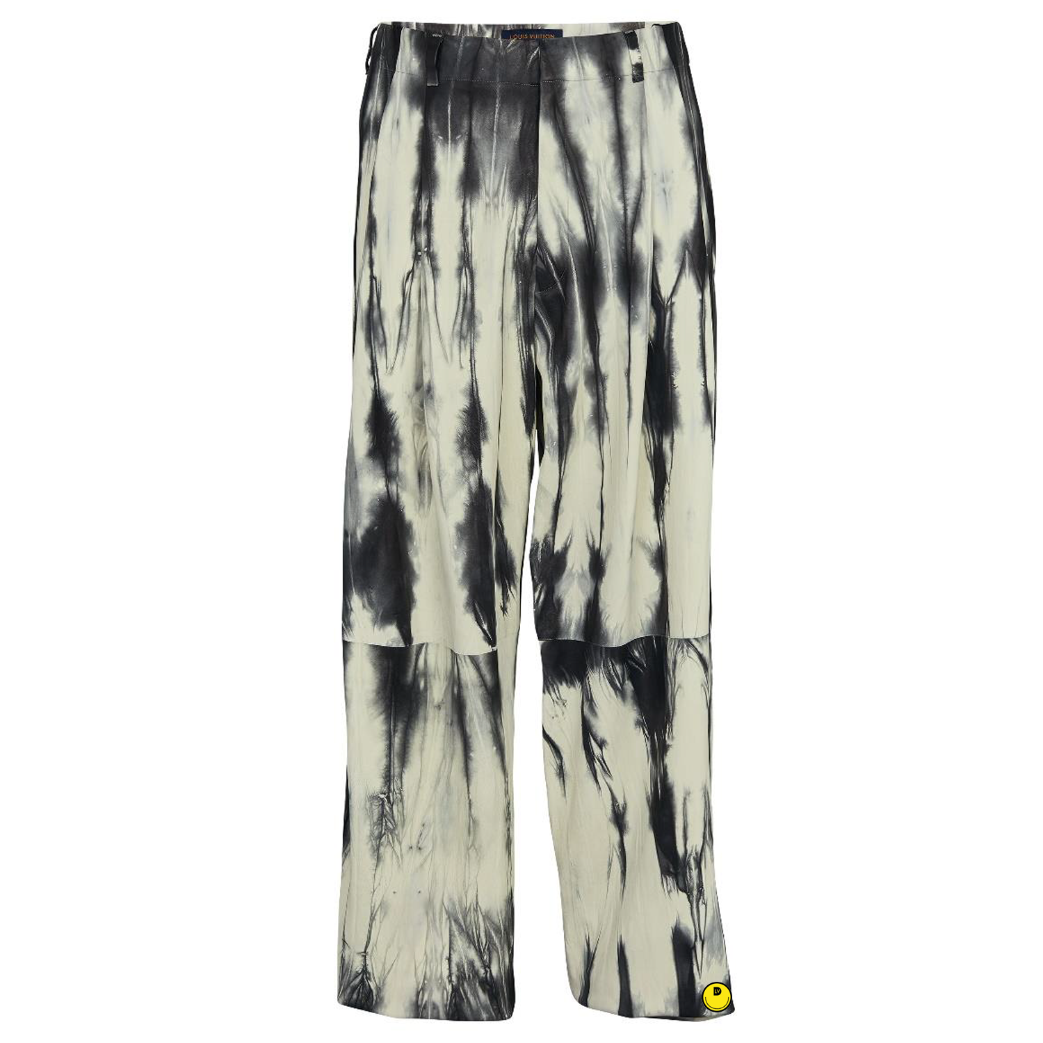TIE AND DYE LEATHER TROUSERS - €4900 $-NOIR