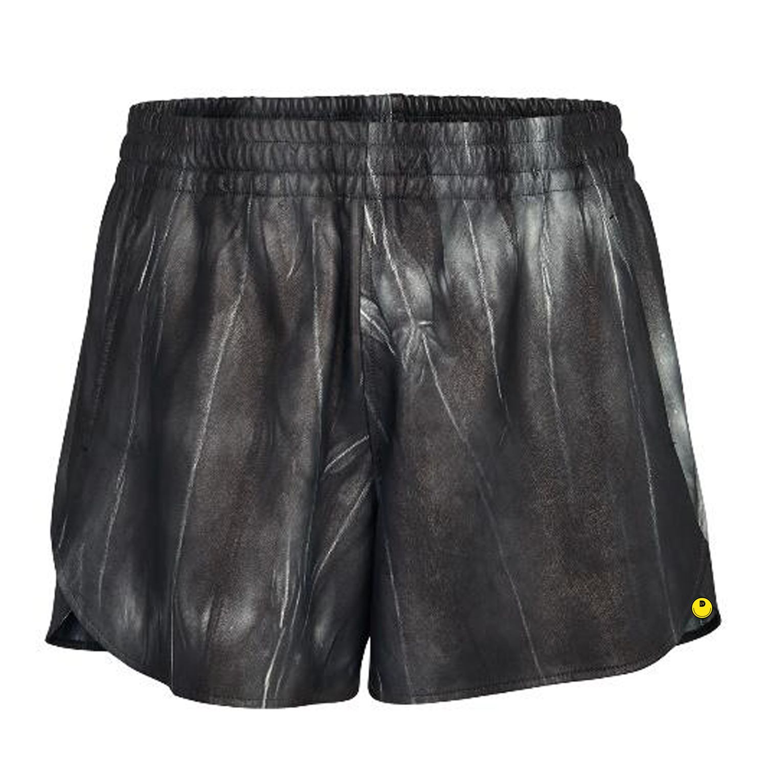 TIE AND DYE LEATHER SHORTS - €3100 $-NOIR