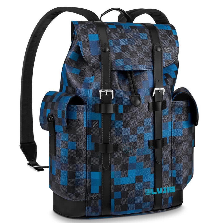 dhristopher pm - €2290 $n40063damier pixel bleu