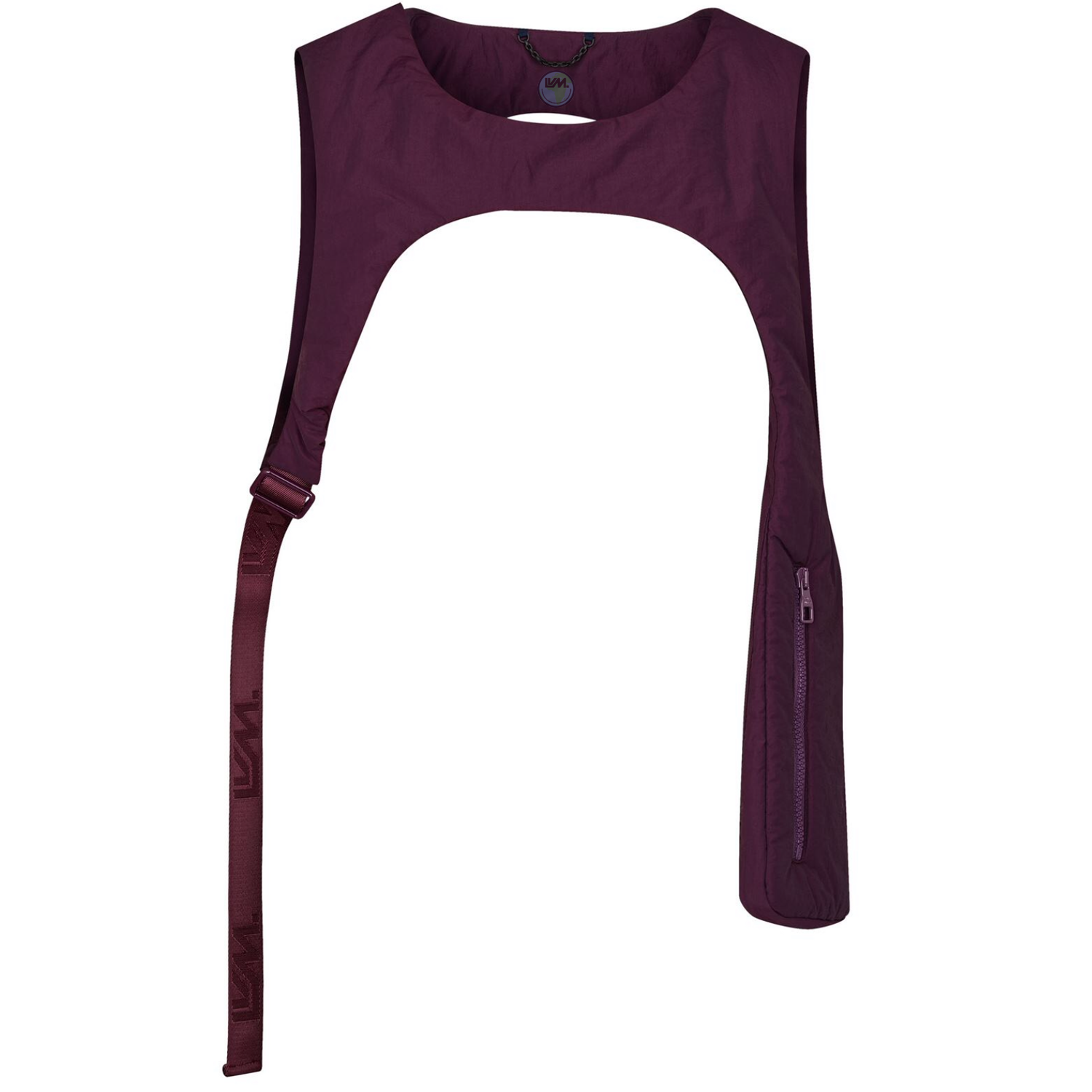 CUT AWAY VEST - €850 $1130m0177AUBERGINE