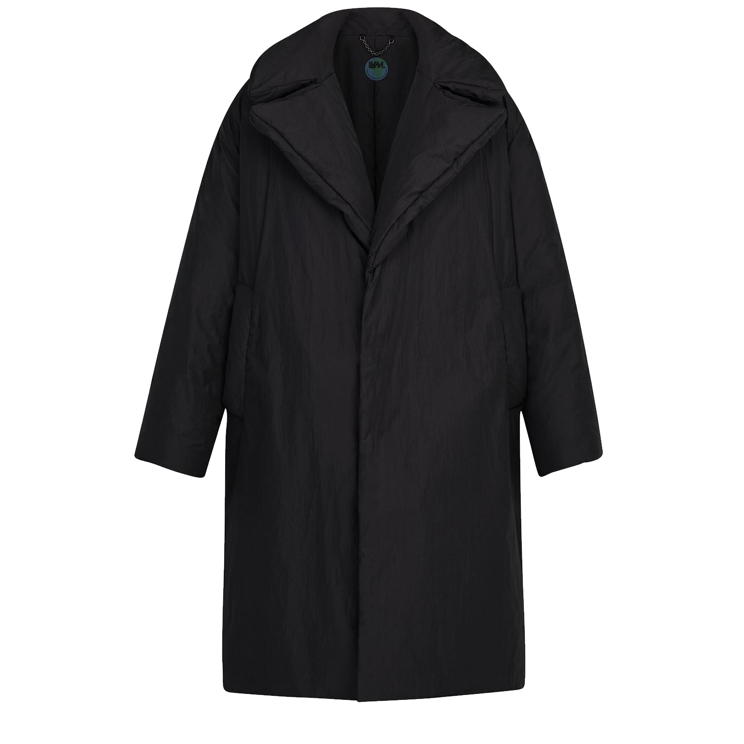 LONG PADDED BELT COAT - € $33501A5DI6NOIR