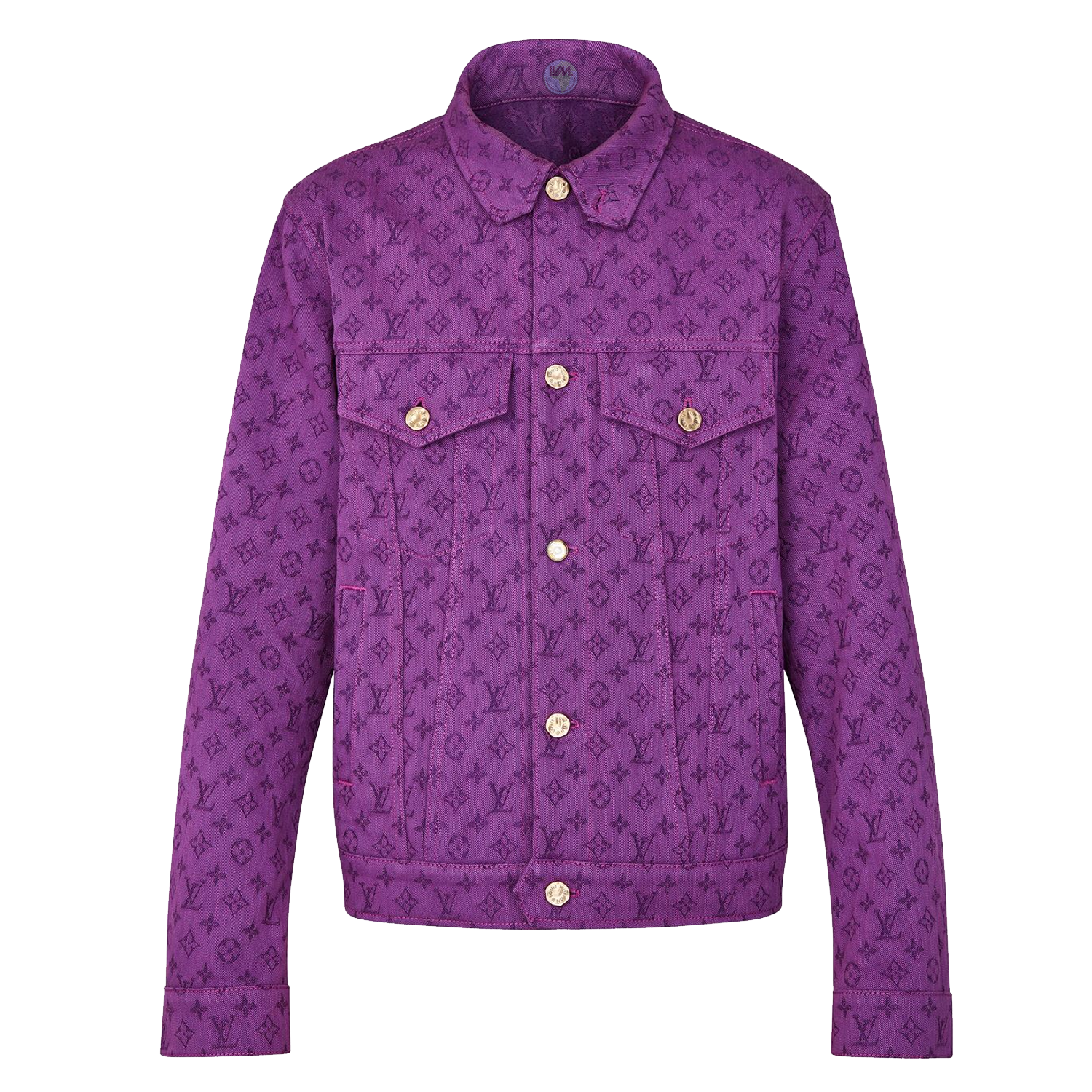 MONOGRAM DENIM JACKET - €1500 $19901A5D8IAUBERGINE