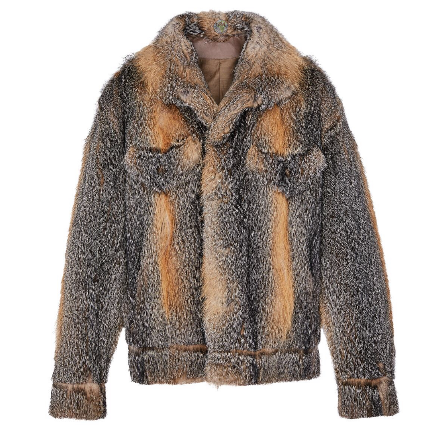 FOX FUR JACKET - €9900 $13,2001A5CZ4GRIS
