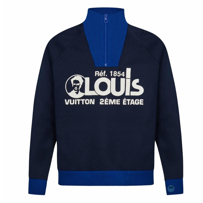 LOUIS PRINTED SWEATSHIRT - €990 $13201A5CMTBLEU