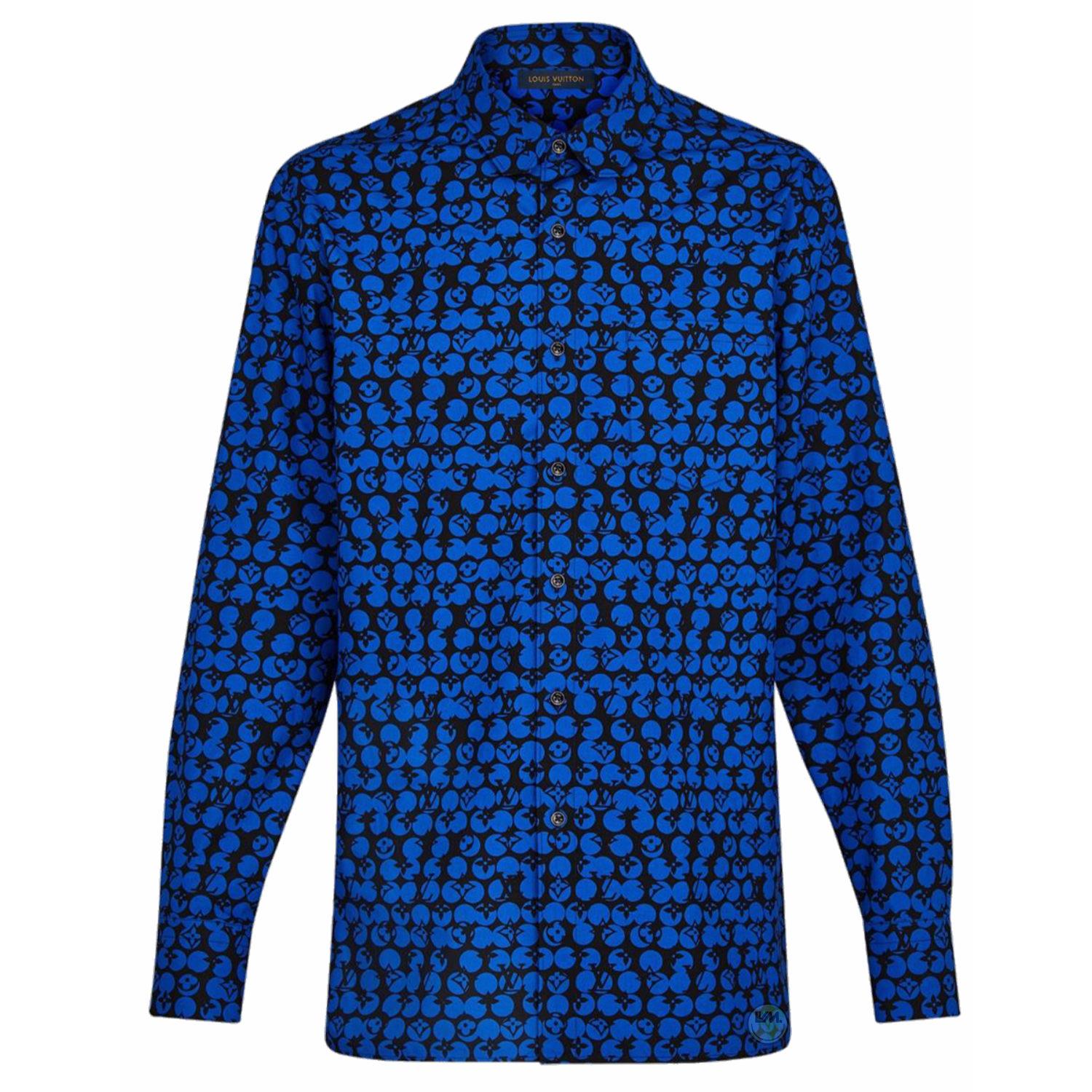PERFORATED DNA SHIRT - €690 $9201A5DA8BLEU