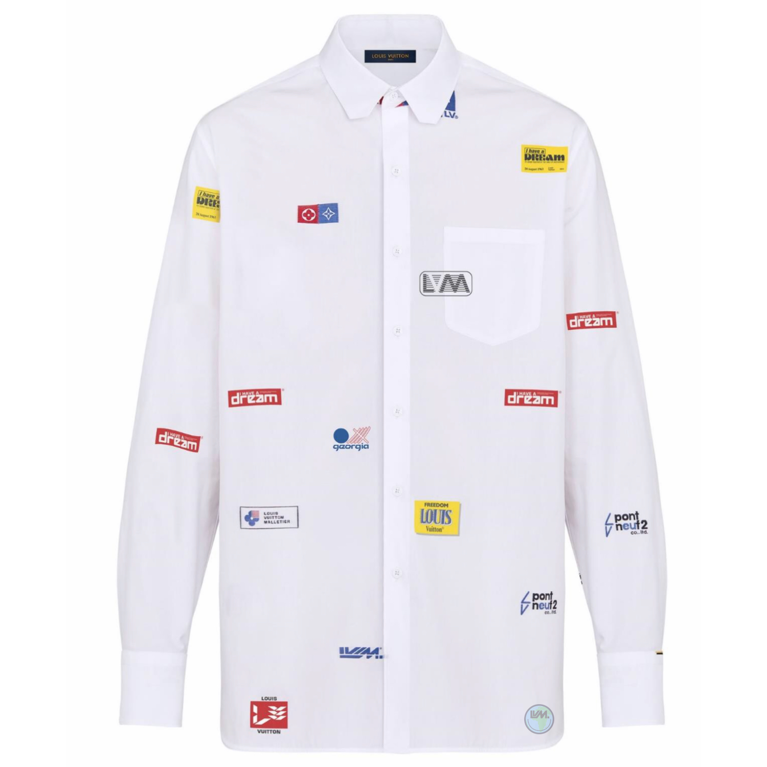 LOGO DNA SHIRT - €690 $9201A5DAOBLANC