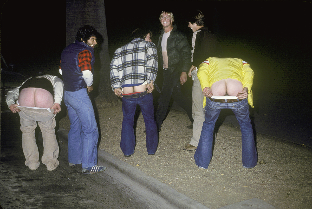Drunk guys mooning the photographer