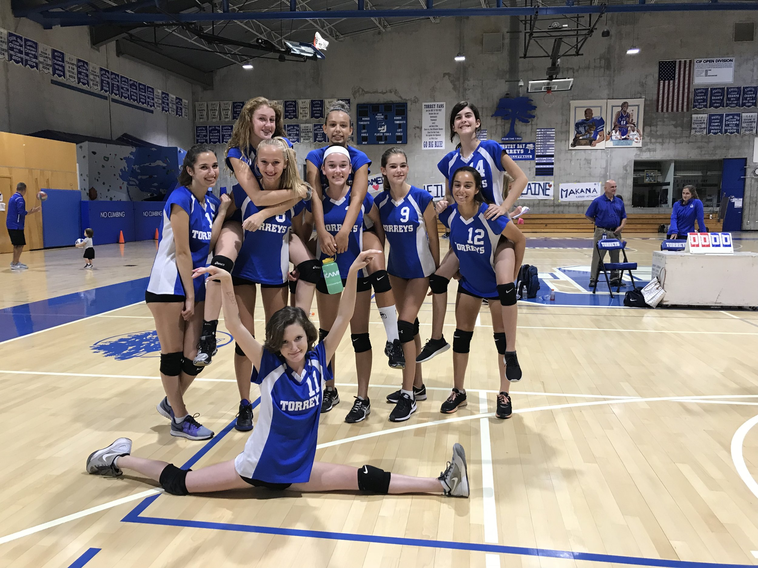 """Logan said to be sure that we don't say that our team isn't """"undefeated"""", but that we are """"hot, we are the hottest team on the court right now at the moment..."""" En fuego! I agree!"""