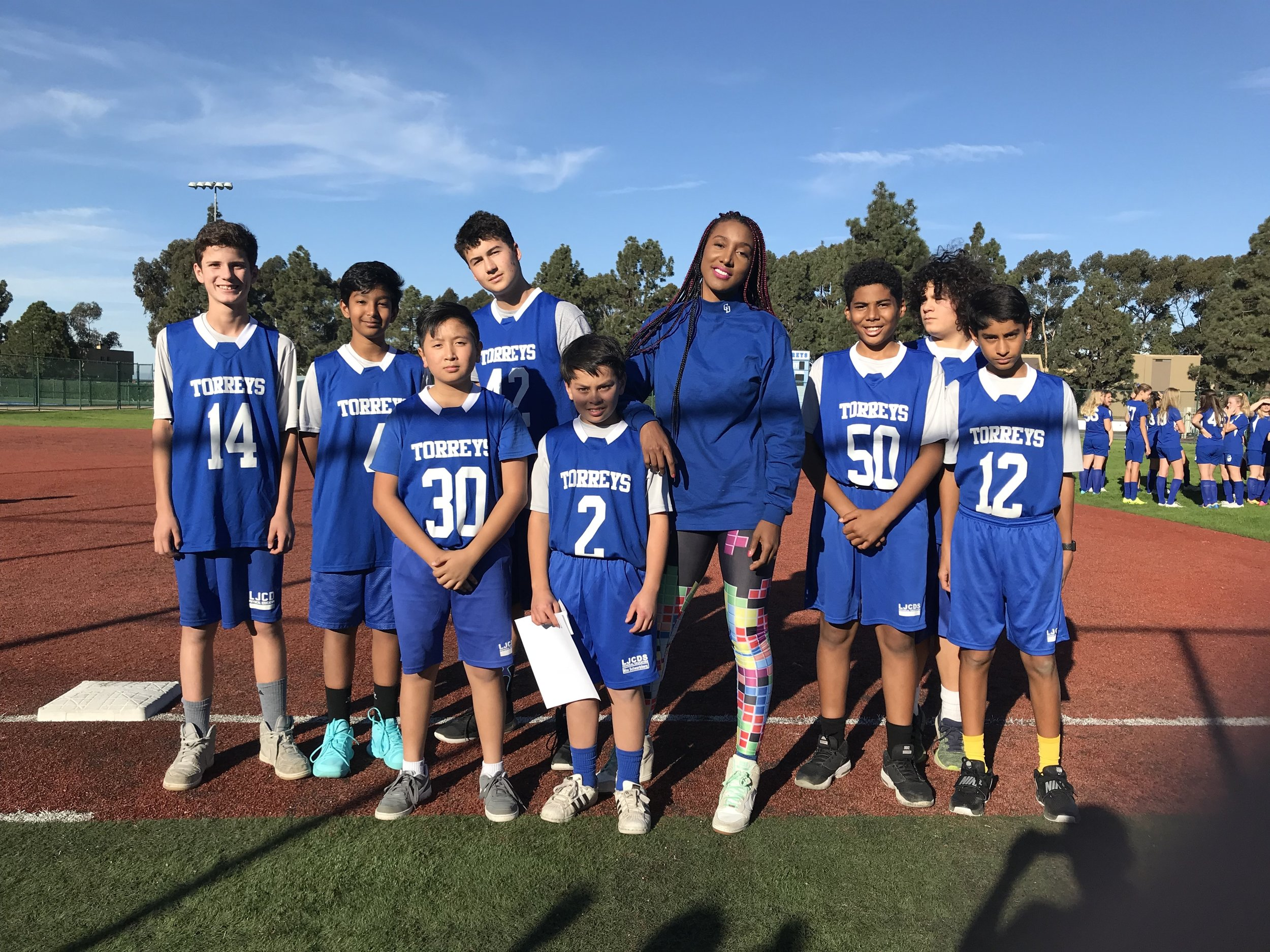 """The """"Blue"""" squad held it down for us today and have earned the starting position in tomorrow's game against The Bishop's School. After being down 14-25 at halftime, this unit brought the score to 24-29 before substitutions came."""