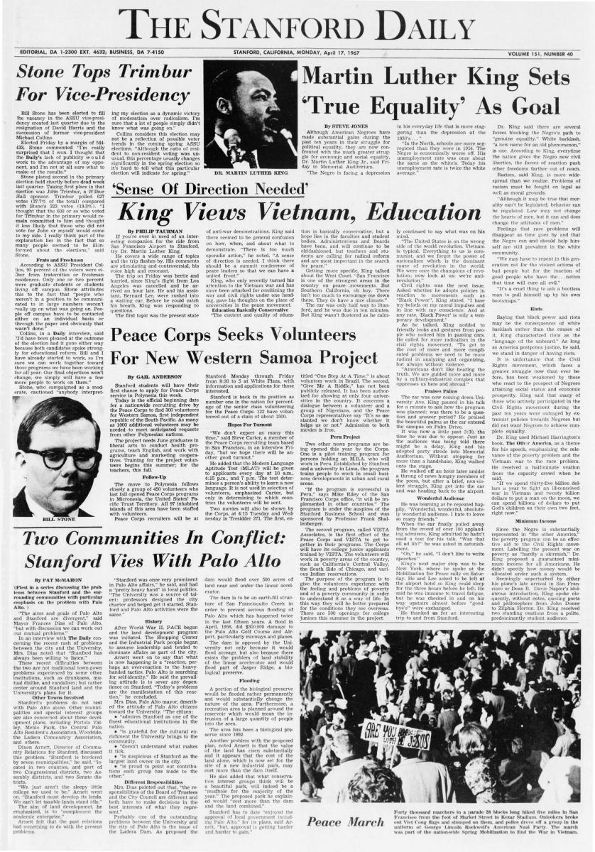 The Stanford Daily, Monday, April 17, 1967