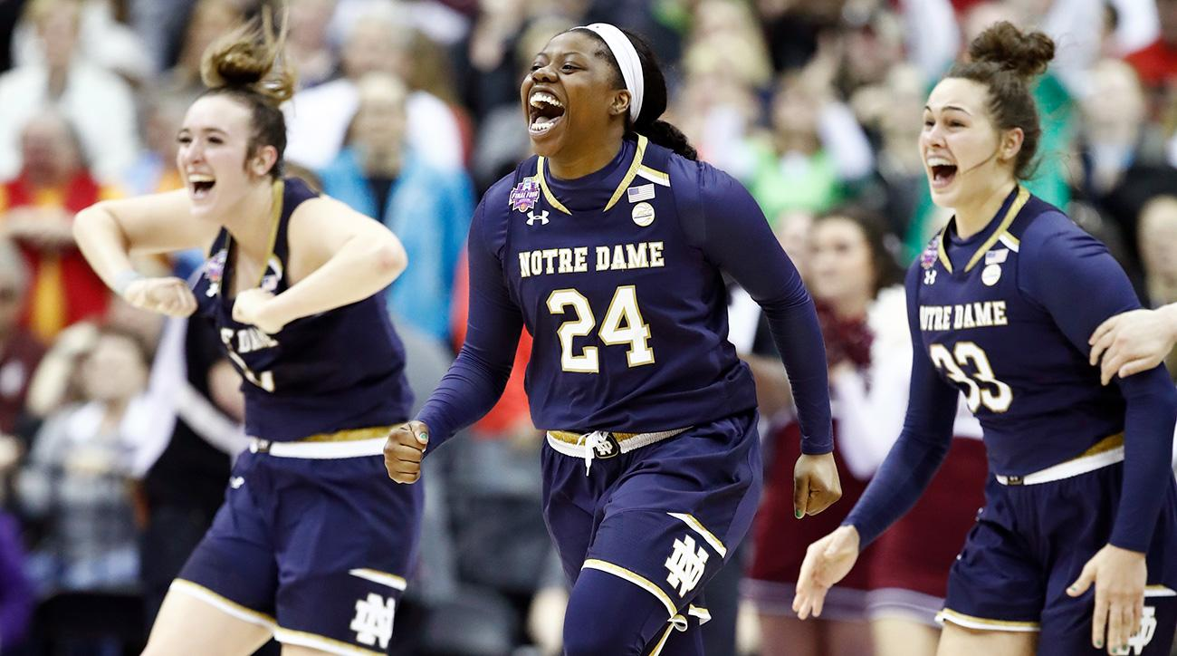 Arike Ogunbowale (24), Superstar shooting guard for the Notre Dame Women's Basketball team that won the 2018 NCAA National Championship