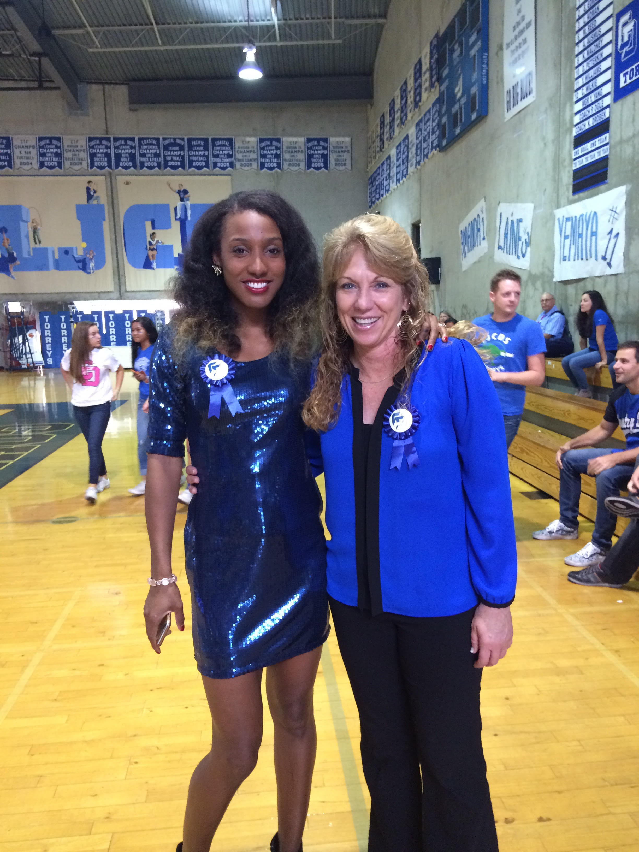 Terri Bamford and I at my high school hall of fame induction, La Jolla Country Day School