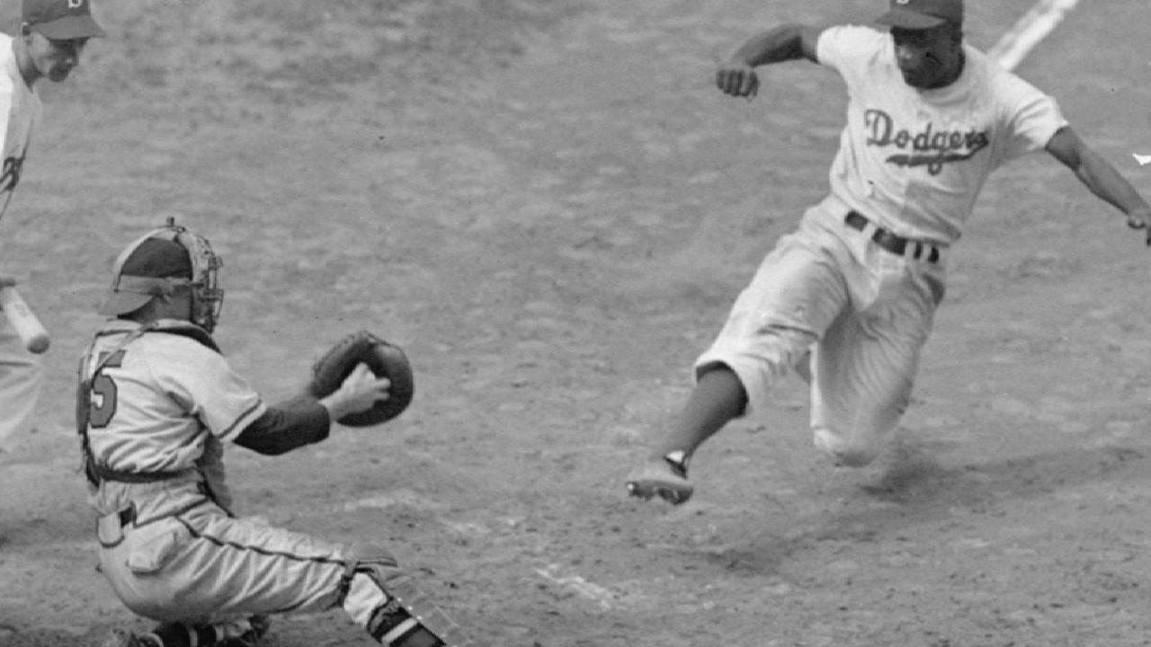 Jackie Robinson stole home 19 times during his career in MLB