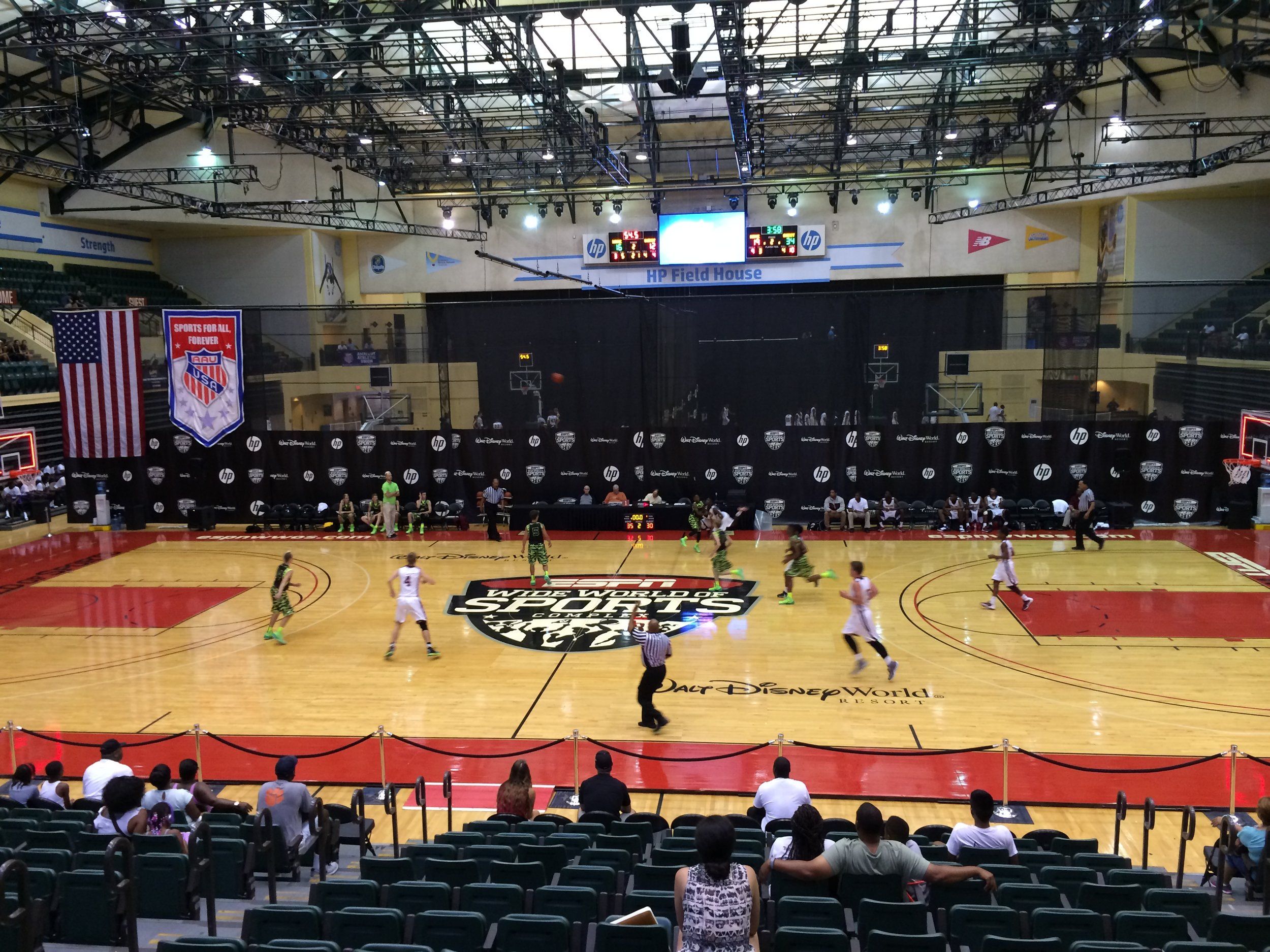 The same stage I played on to win a AAU National Championship in 2000 with my team, the NJB All-Stars