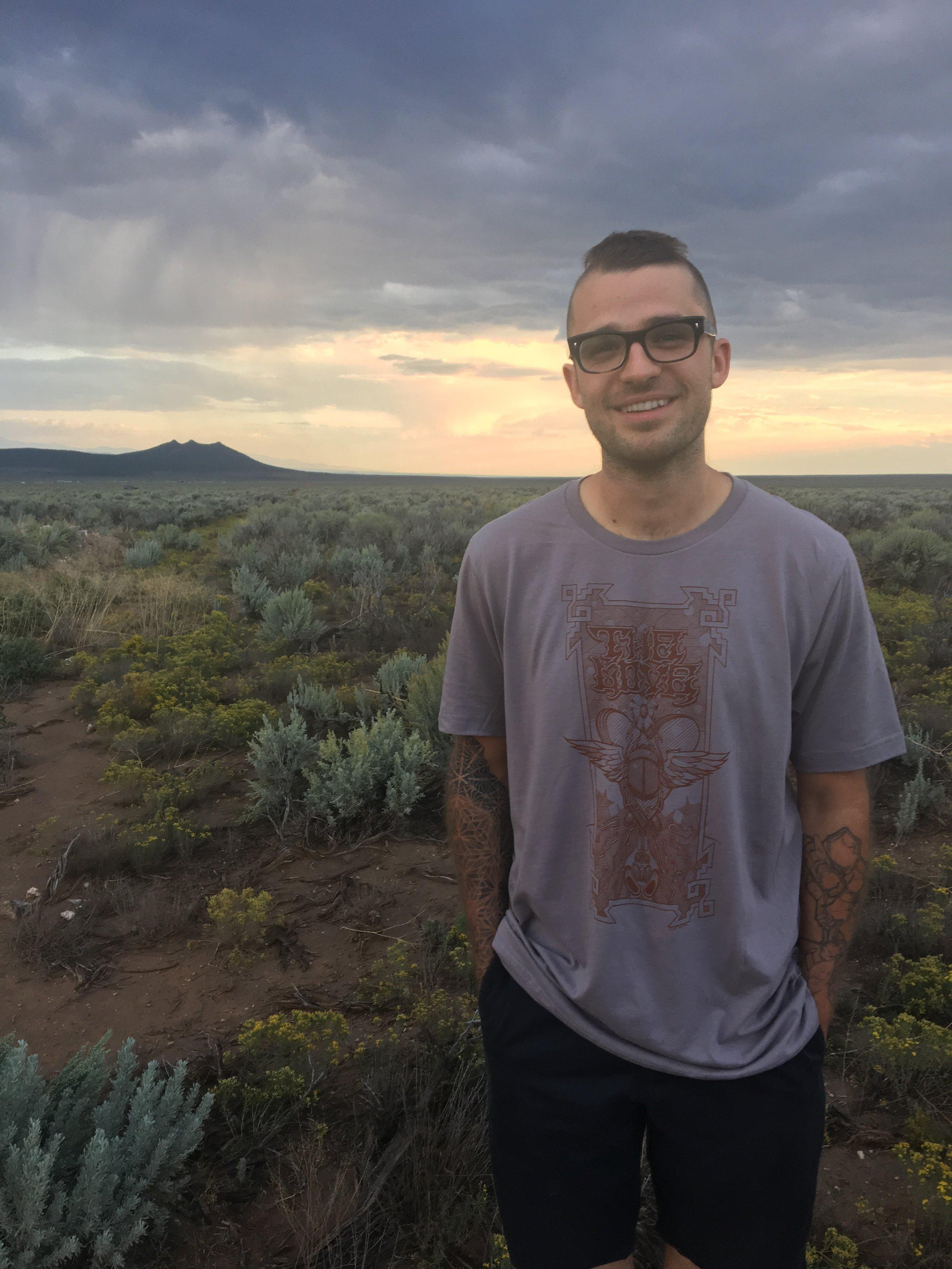 Jack Shure in the desert