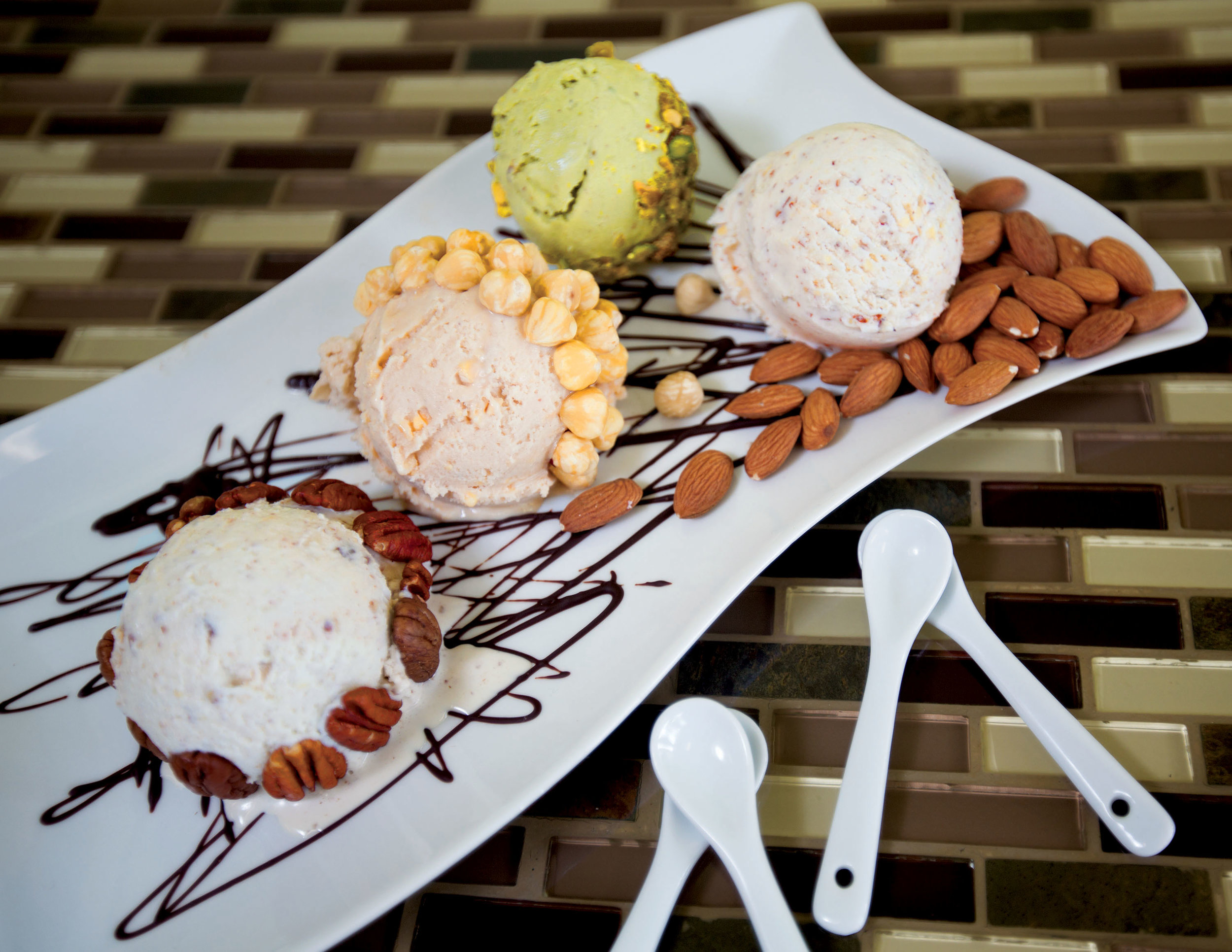 Choose from more than 200 different flavors of our artisan gelato, ice cream, sorbet, including vegan, and gluten free options.