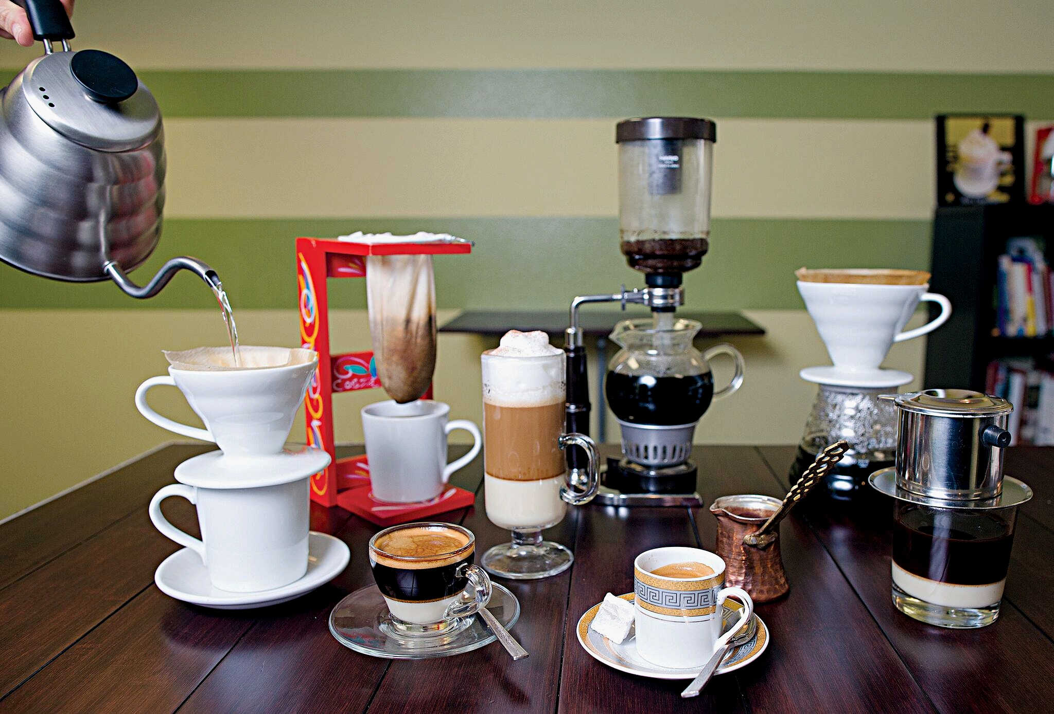 From Turky to Japan, you can only find this variety of coffees at KIWI. No need to travel around the world, just come to Avon.