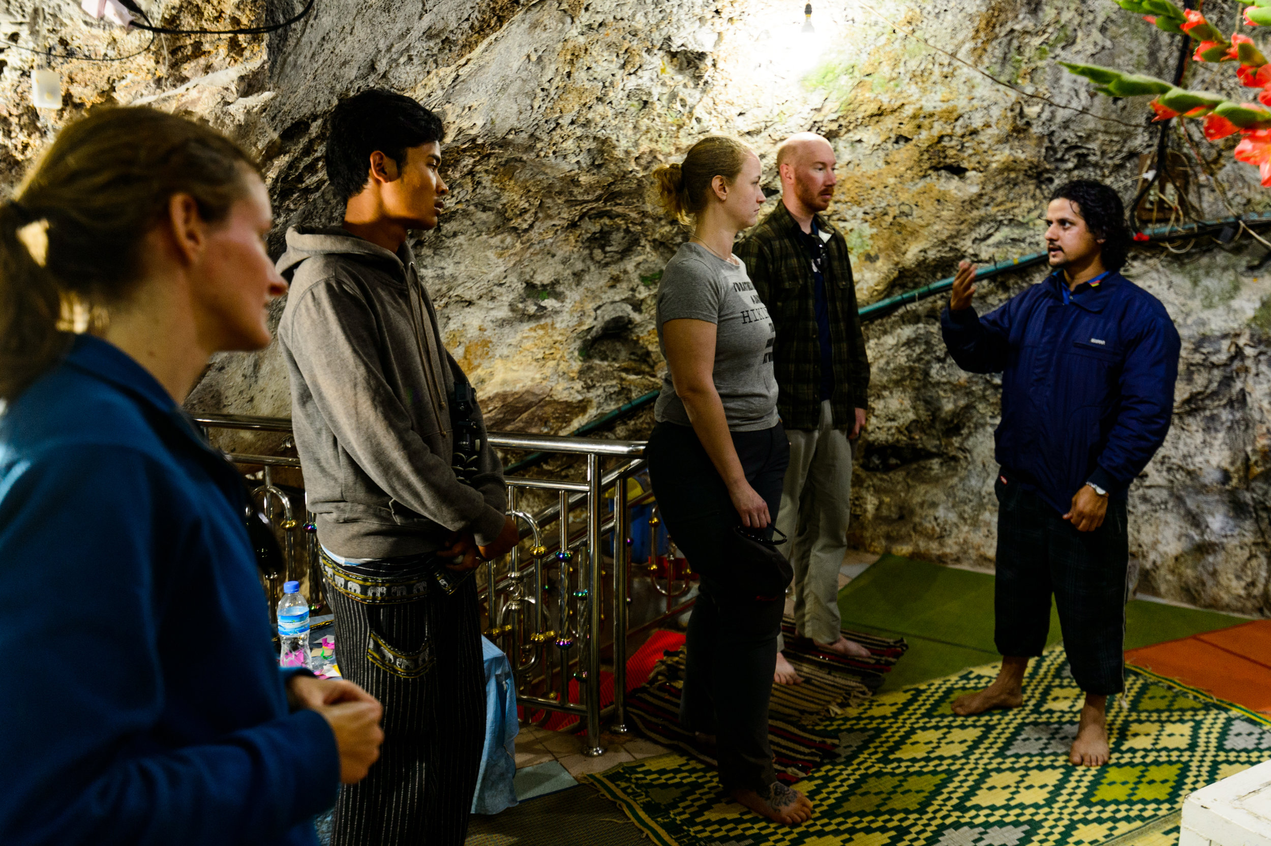 Sounar giving us the low-down on this specific shrine's significance as he did throughout the entire underground tour.