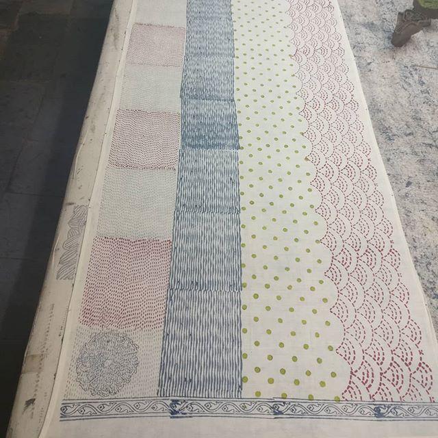 Block printing on cotton...
