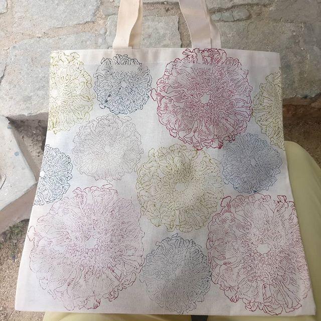 Handbag block printed...