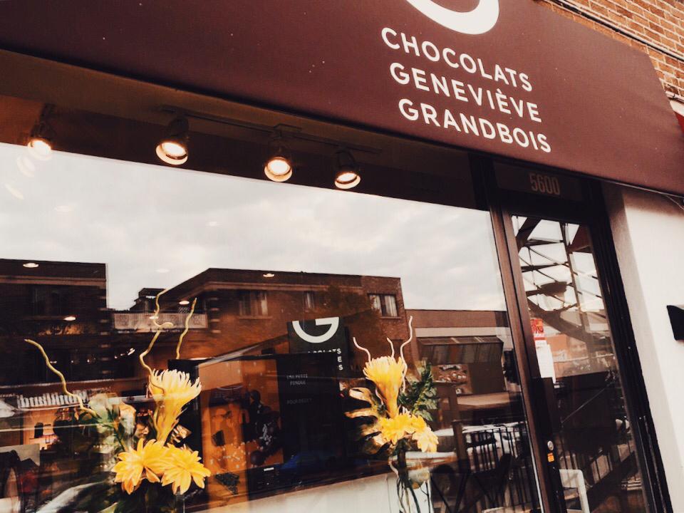 Chocolat Geneviève Grandbois in Monkland Village via Lora Weaver Mysteries by Katy Leen