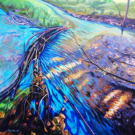 This Art Hop September 8th 2017 in downtown Kalamazoo, the Main Street East Atrium will be exhibiting 10 of my high-gloss resin paintings of water. Refreshments will be served. Main Street East is located across from Ouzo's Restaurant and Bar. 5-8pm