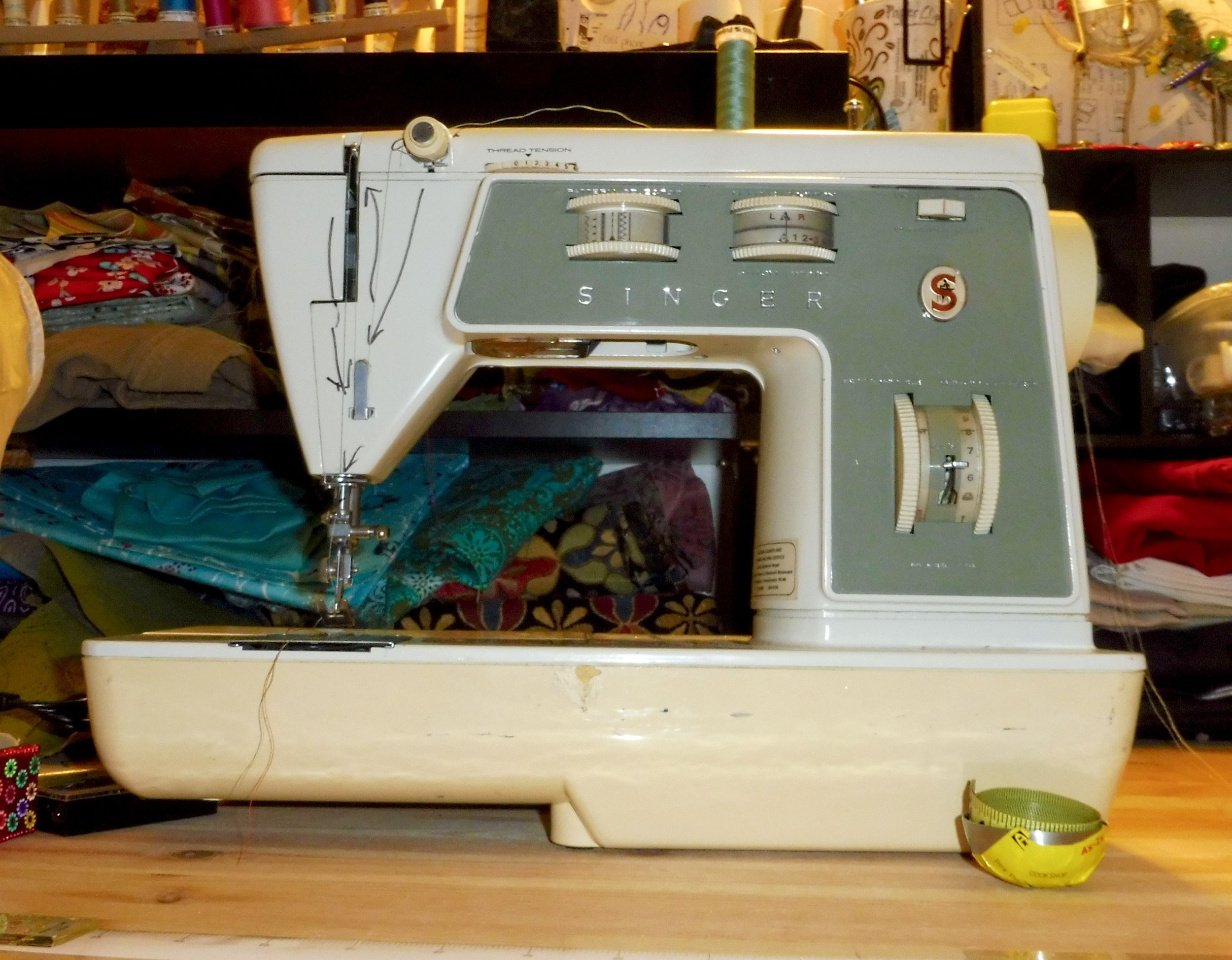 Circa 1973-1978, my mom's machine. AKA: The Beast