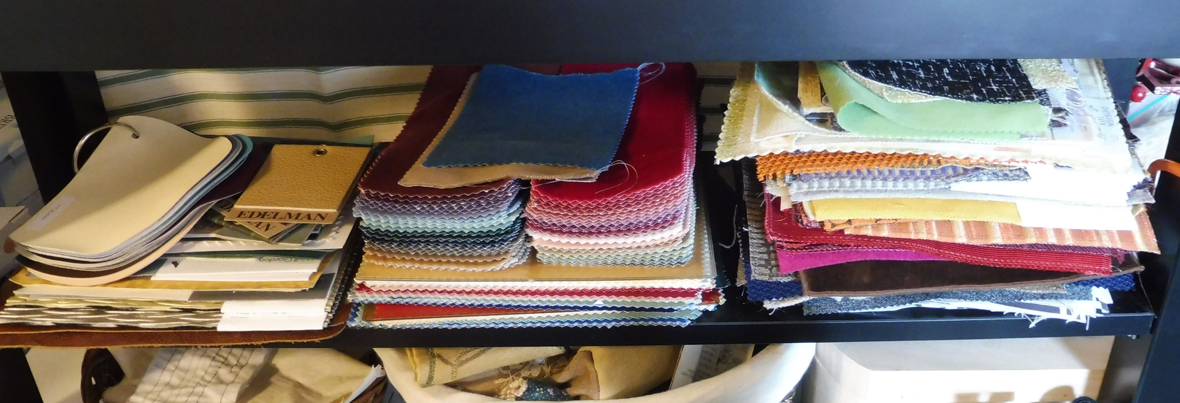 Stacked Fabrics (mostly sourced from Estate Sales)