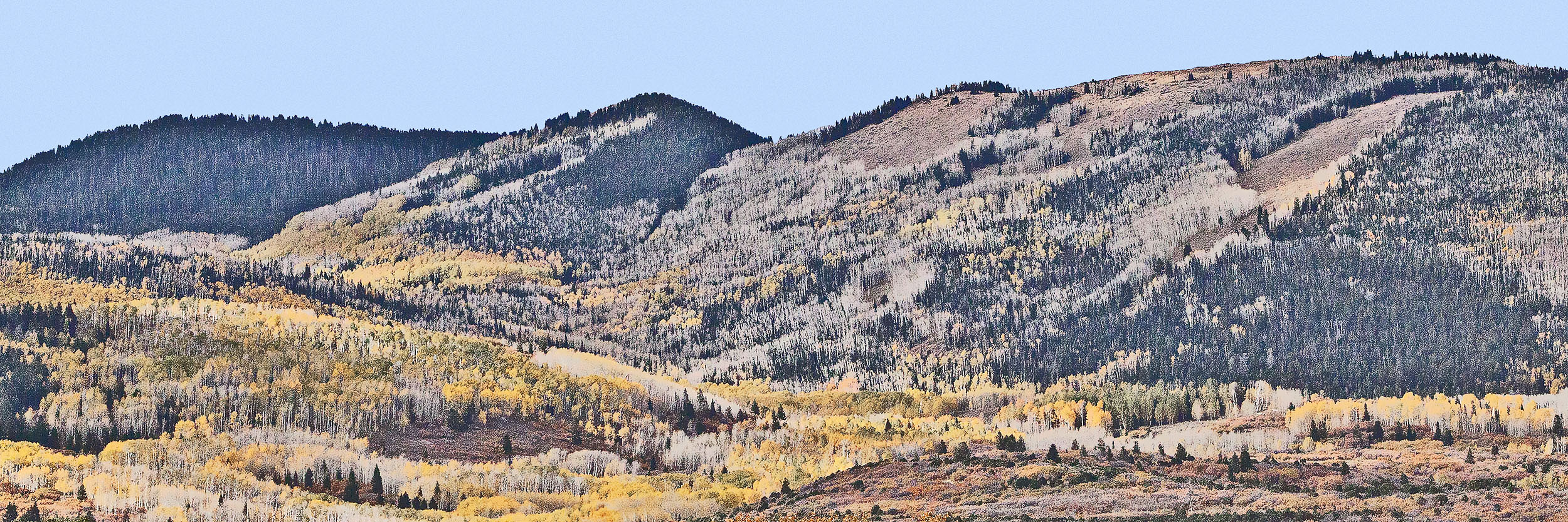 Abajo Mountains in Fall