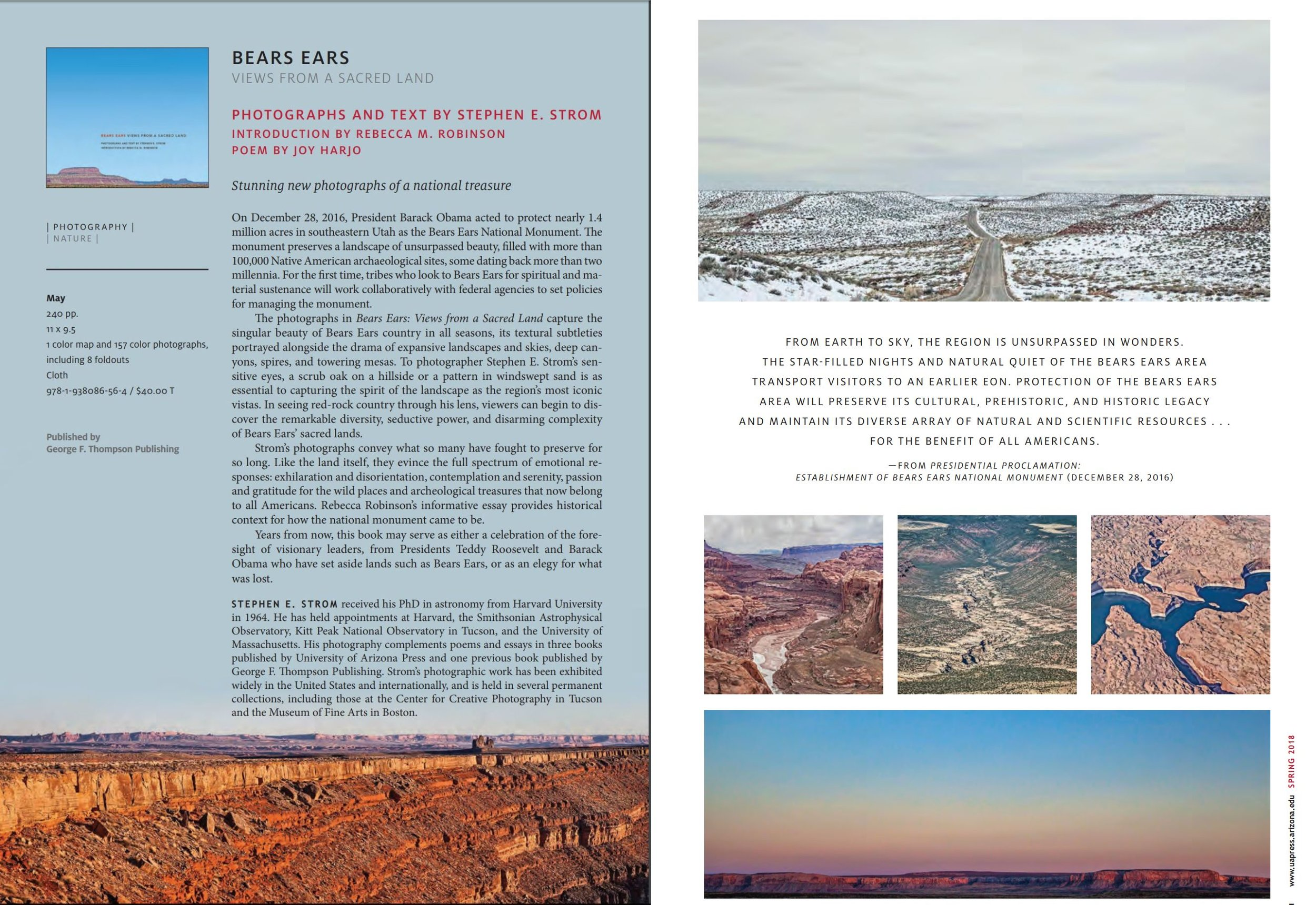 Bears Ears Views from a Sacred Land Catalog Spread