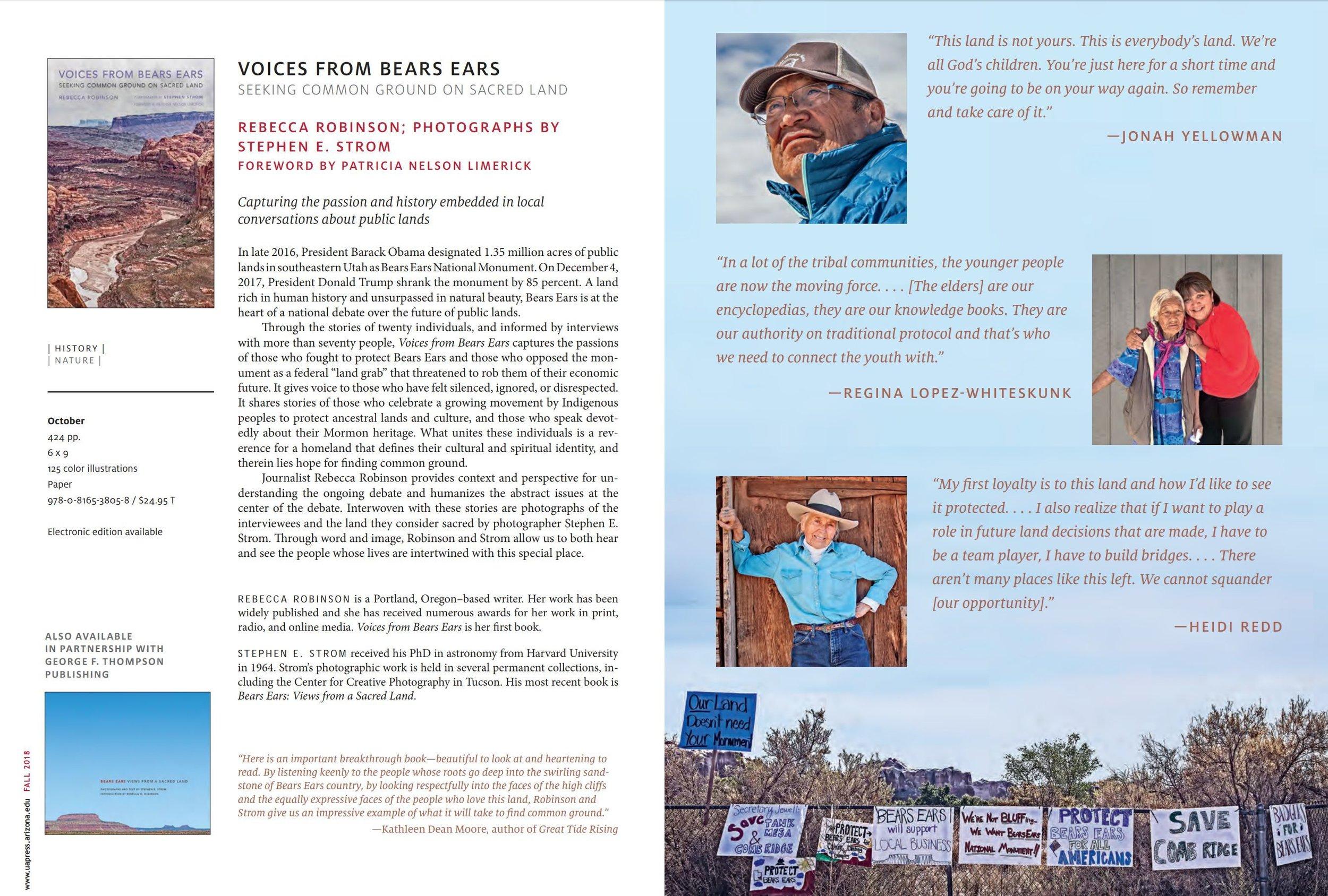 Voices from Bears Ears   University of Arizona Press