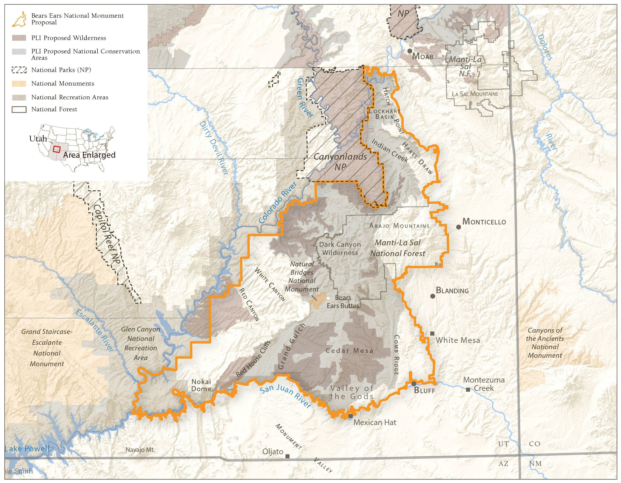 PLI vs Bears Ears National Monument Proposals