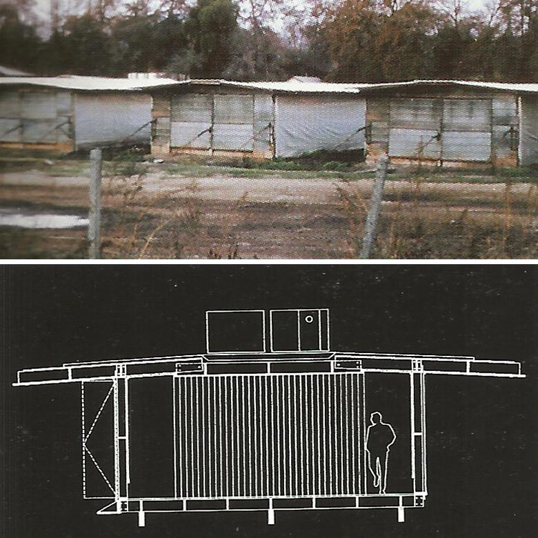 3. (arriba) Gallineros rurales / 4. (abajo) Casa Gallinero - Eduardo Castillo - fuente: Revista ARQ, nº51. Julio, 2002