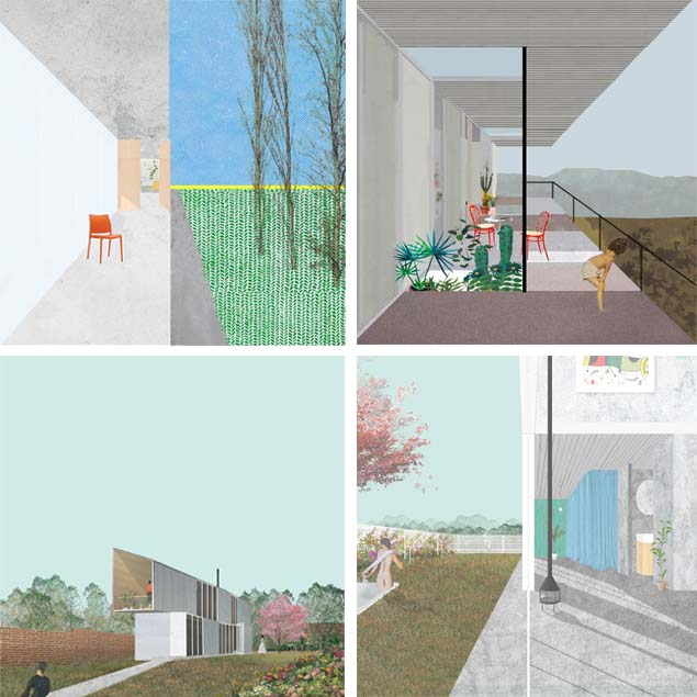 Collages: Casa Horizontal (arriba) y Casa Yerovi (abajo) - © Juan Tohme