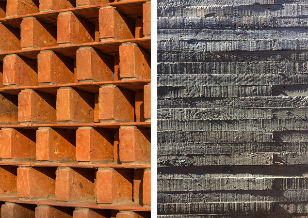 Texturas Casa Patios - © Equipo de Arquitectura
