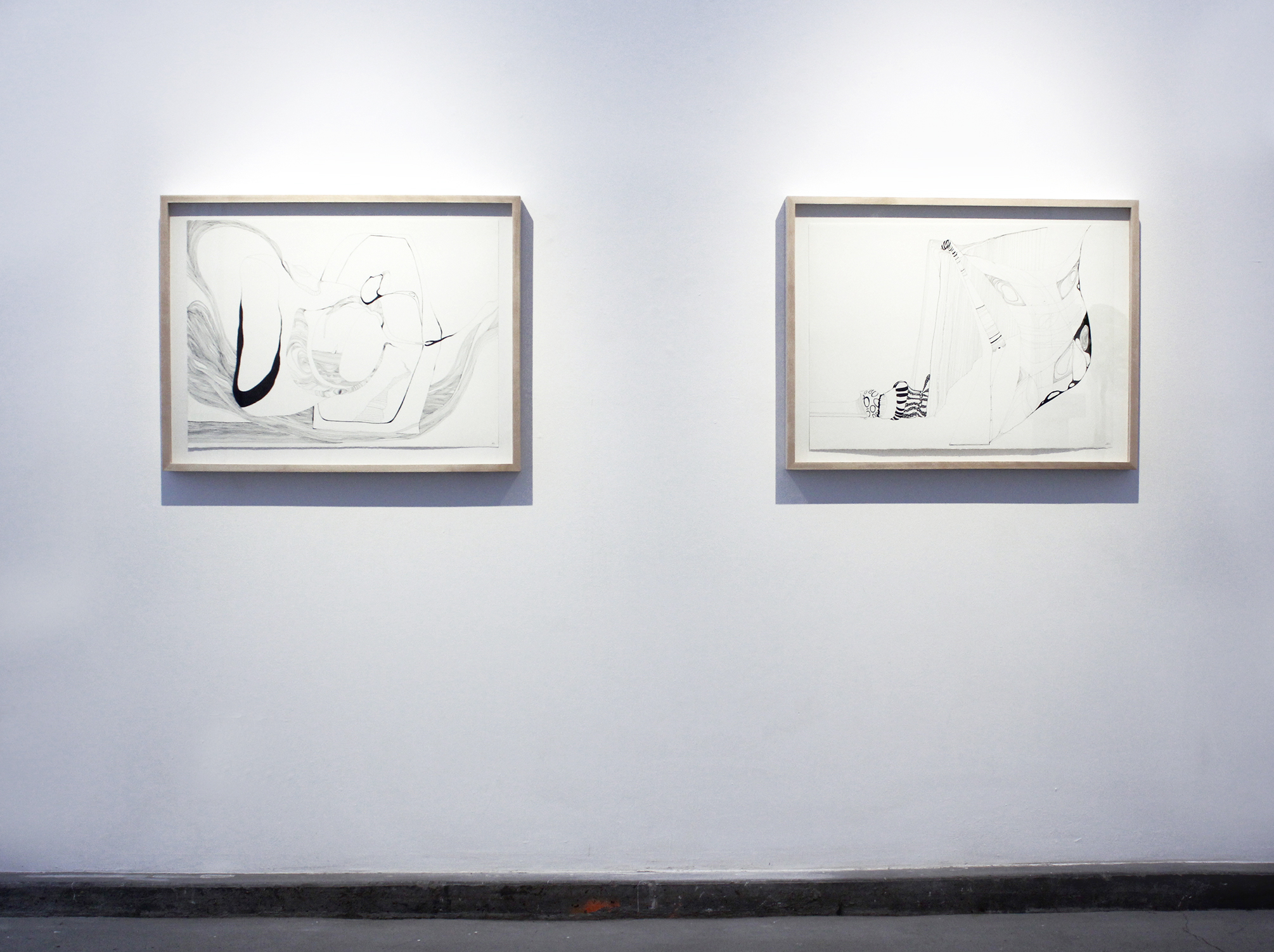 Drawings (Passage A, Passage B) in situ