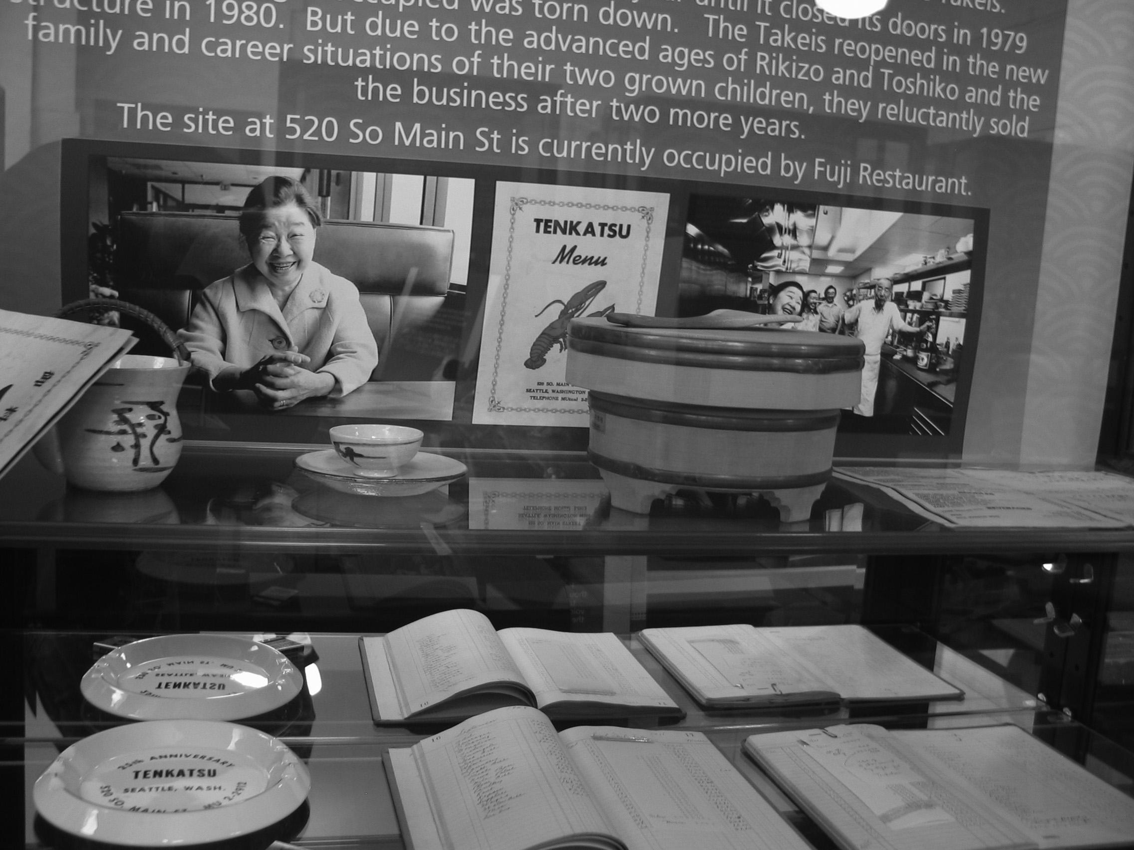 Original Seattle Japanese Language School and Nihonmachi Restaurant artifacts -