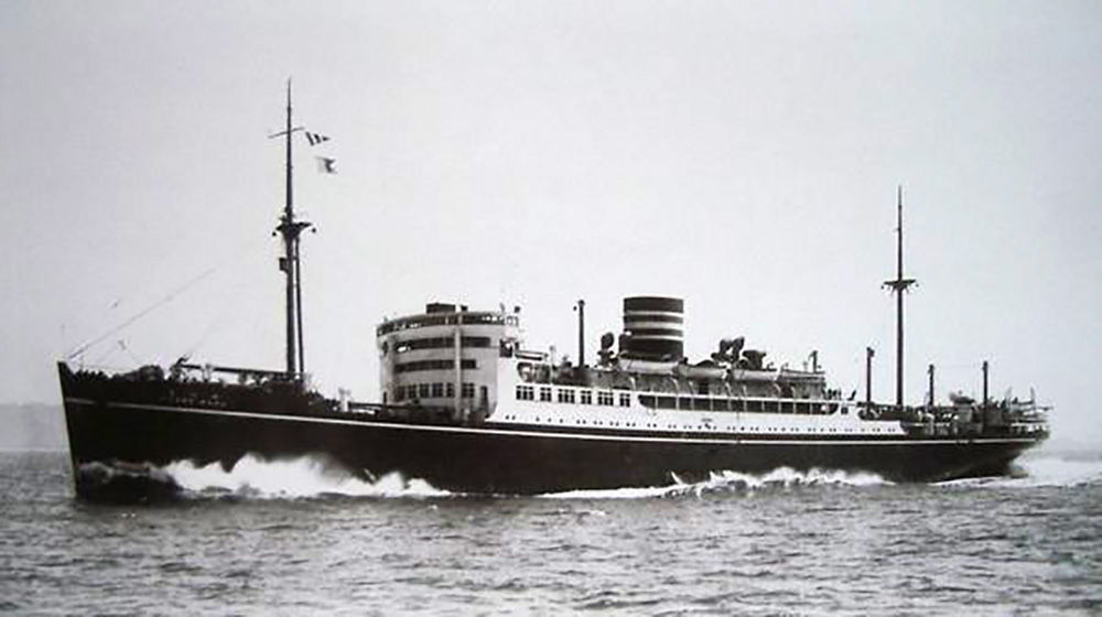 Hikawa Maru on her maiden voyage on May 22, 1930. The Hikawa Maru was the only large Japanese ocean liner to survive World War II. ( Photo by Yokohama Dock Company, Public Domain )