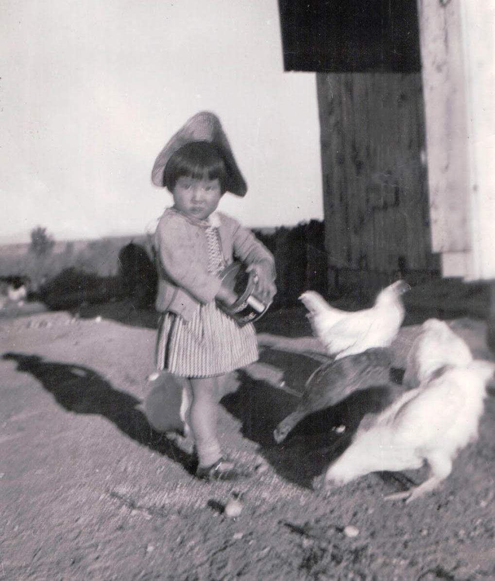 Dee Goto in 1943, and at 4 years of age, in Idaho. Photo Courtesy of Dee Goto.