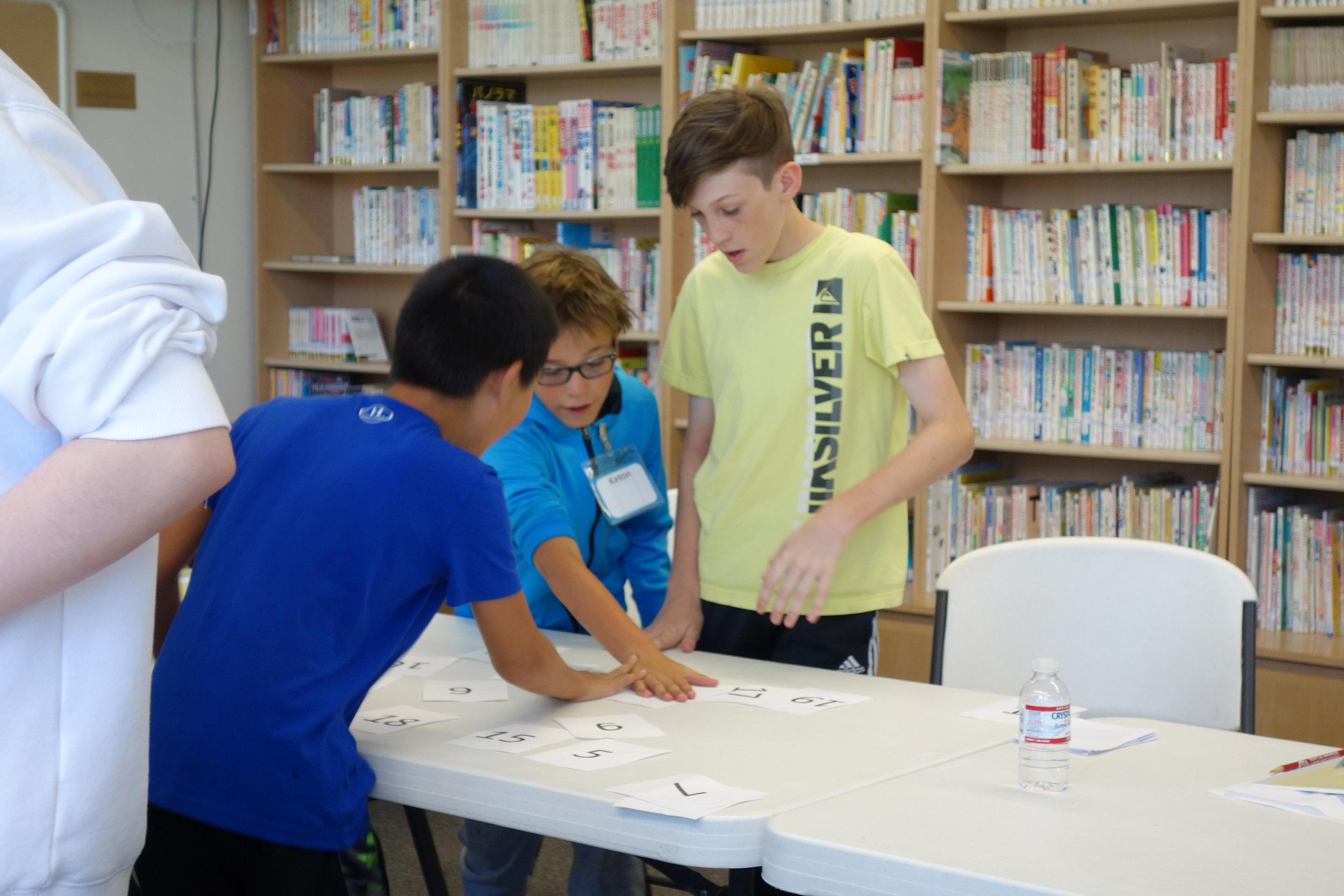 Campers learn hiragana.  Photo: Stephanie Chan
