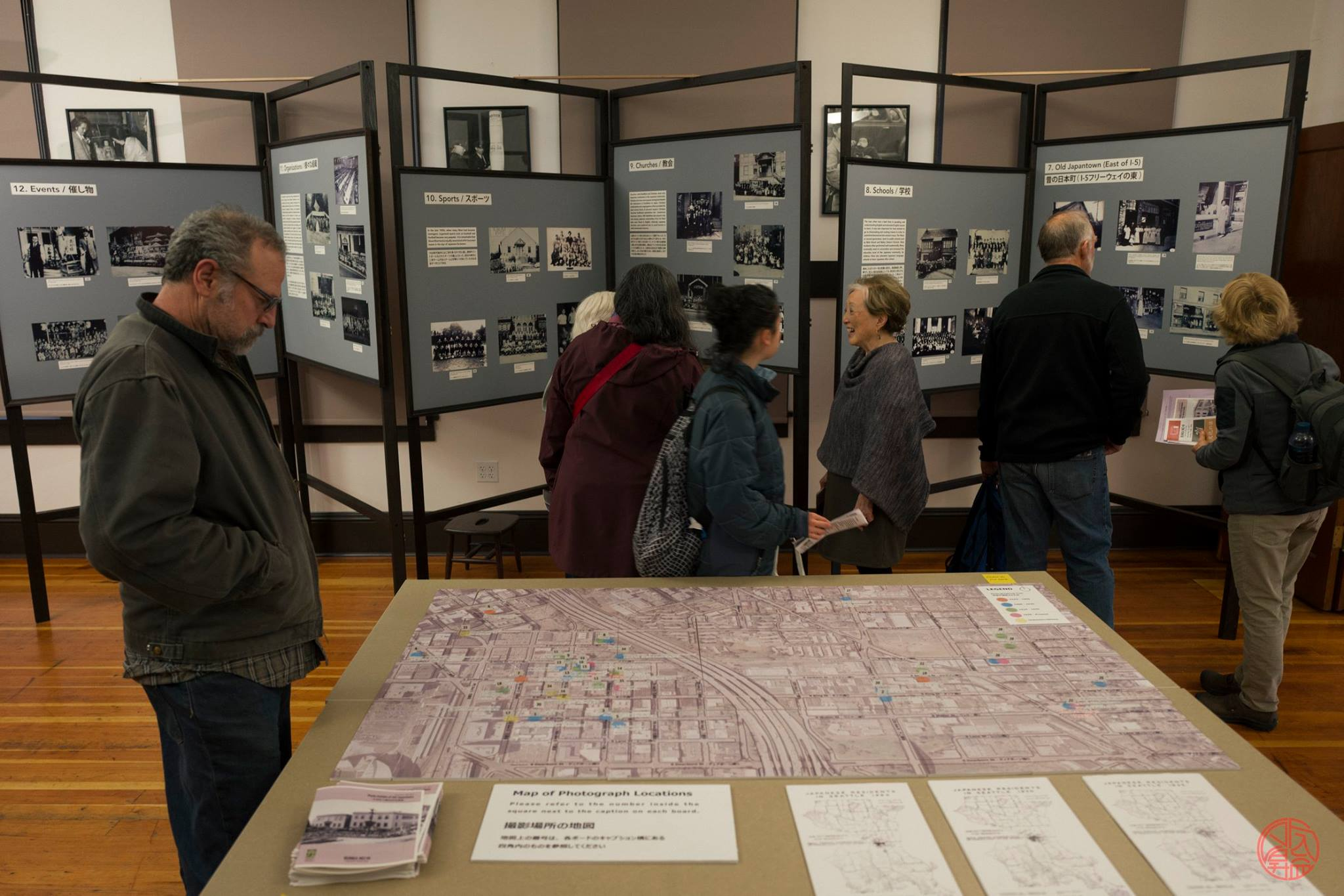 An exhibit on Seattle's old Nihonmachi during Bunka no Hi 2017. Photo by Jason Go.