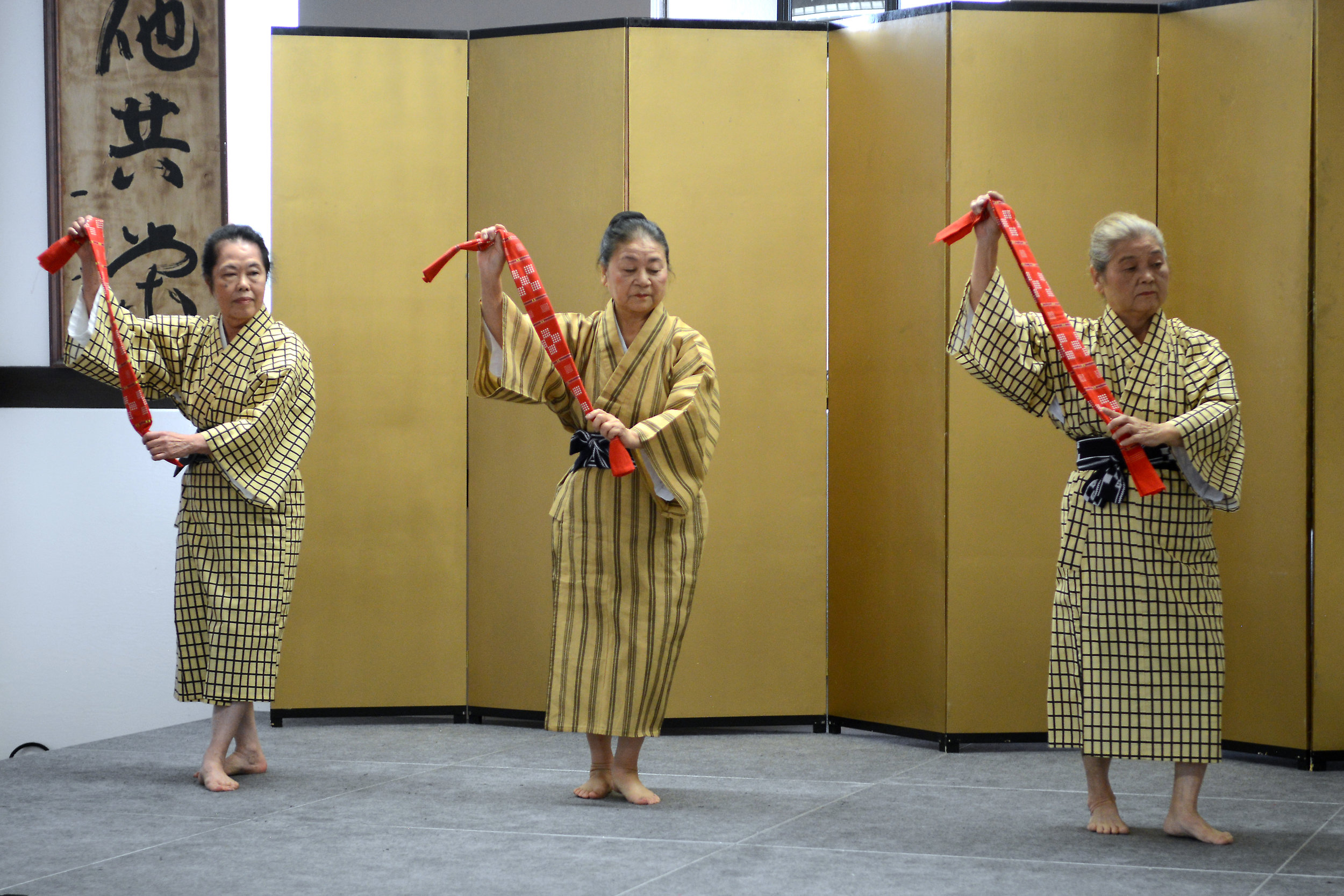 Okinawa performers during Bunka no Hi 2018. Photo by Tyler Sipe