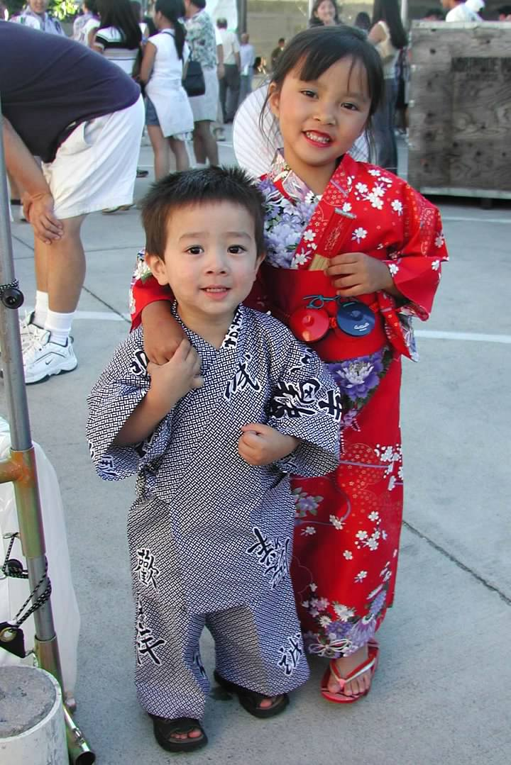 Cammi Kaneko and her brother attend San Jose's Obon back in 2004.