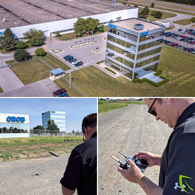 Taking the drone out for some fresh air at @grobsystems and H&K! #dronecertified⠀ ⠀ #drone #videoproduction #videobranch #GROB #HKchevybuick