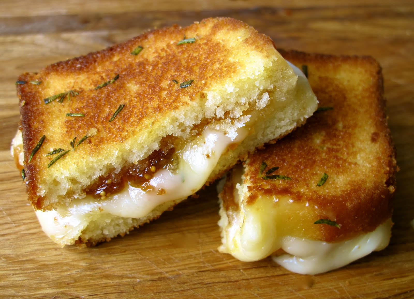 Grilled Cheese & Fig Preserves Sandwich