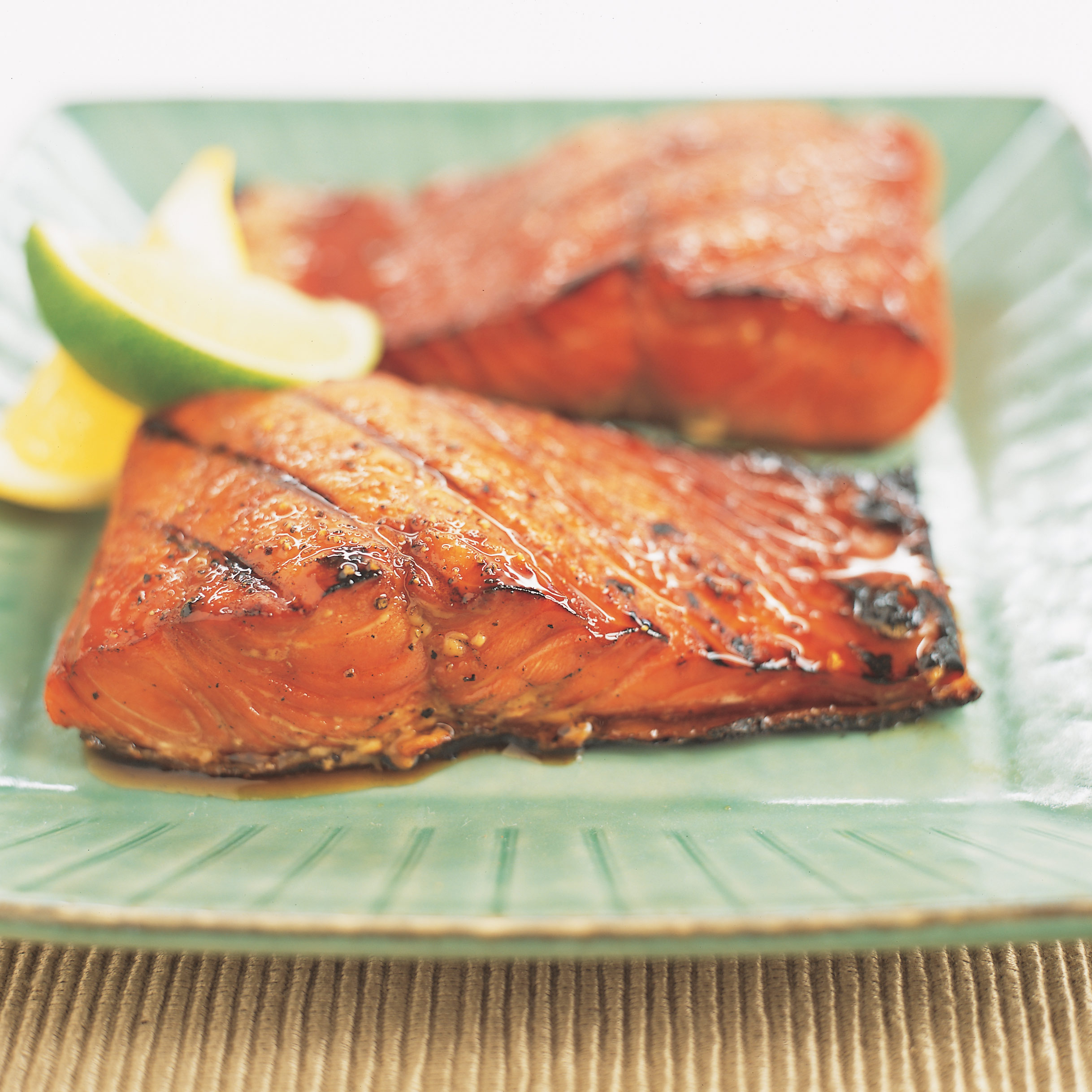 Grilled Salmon with Lemon Ginger Marmalade